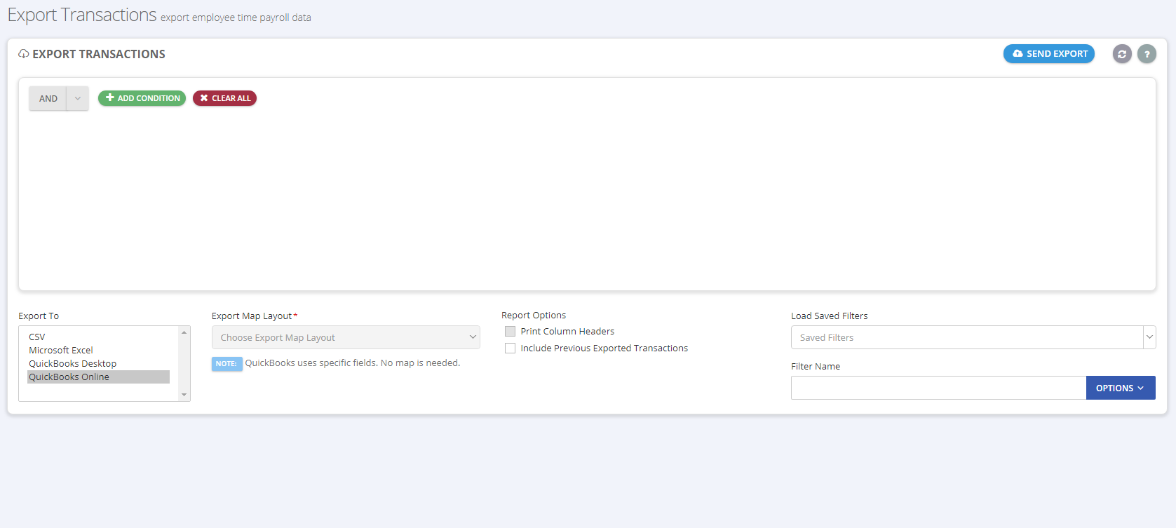 Export Approved Employee Time for Payroll   On-Time Web