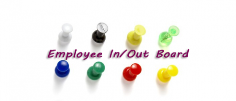 Employee In and Out Board