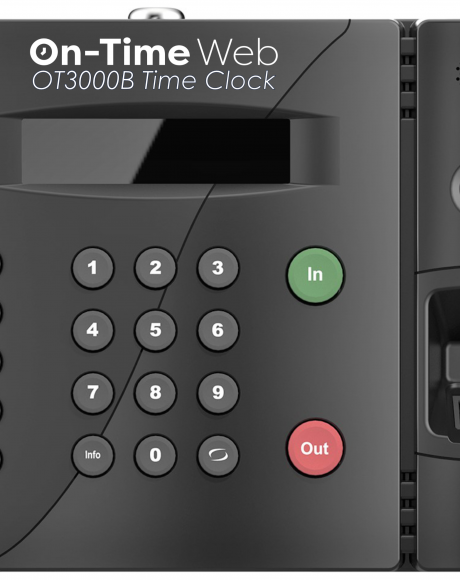 OT-3000b On-Time Web Biometric Time Clock