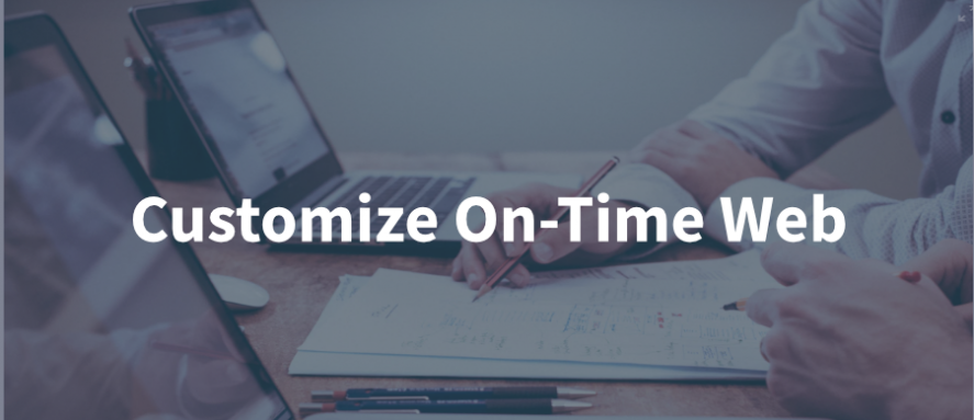 customize on-time webv